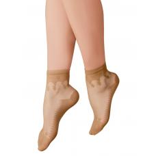 Mite Love Tabanı Destekli Şeffaf Fit Soket Çorap Ten