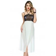 Mite Love Uzun Tül Gecelik Beyaz Fantazi Giyim